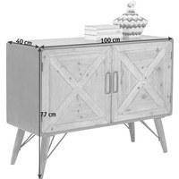 KOMMODE Tanne teilmassiv Grau, Naturfarben - Graphitfarben/Naturfarben, Design, Holz/Metall (100/77/40cm) - Kare-Design