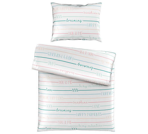 POVLEČENÍ, satén, modrá, bílá, 140/200 cm - bílá/modrá, Trend, textil (140/200cm) - Esposa