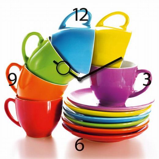 WANDUHR  Multicolor - Multicolor, Basics, Glas/Metall (30/30/3,5cm) - Eurographics
