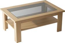 COUCHTISCH in Glas, Holzwerkstoff 105/70/55 cm - Eichefarben, Design, Glas/Holzwerkstoff (105/70/55cm) - Venda