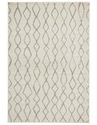 WEBTEPPICH  160/235 cm  Creme, Grau   - Creme/Grau, Basics, Naturmaterialien/Textil (160/235cm)