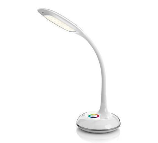 LED LAMPA NA PSACÍ STŮL - bílá, Design, umělá hmota (17/48cm) - Novel