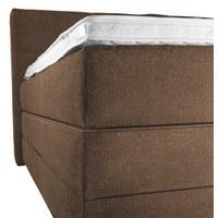 BOXSPRINGBETT 'OCEAN' Webstoff 200/200 cm  INKL. Topper  - Dunkelbraun/Schwarz, Design, Holz/Textil (200/200cm) - Novel