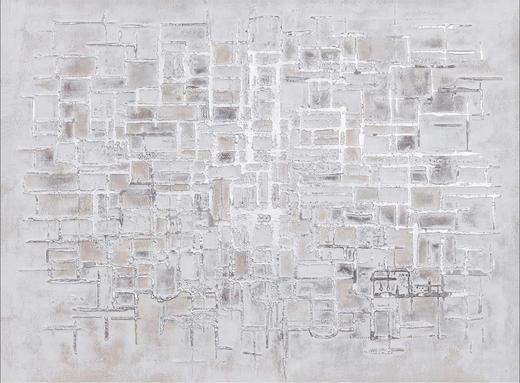 Strukturen ÖLGEMÄLDE - Multicolor, Design, Holz/Textil (120/90cm) - Monee