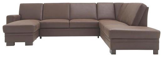WOHNLANDSCHAFT - Braun, Design, Holz/Textil (163/319/241cm) - Cantus