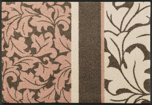 FUßMATTE 50/75 cm Graphik Braun, Rosa - Braun/Rosa, Basics, Kunststoff/Textil (50/75cm) - Esposa