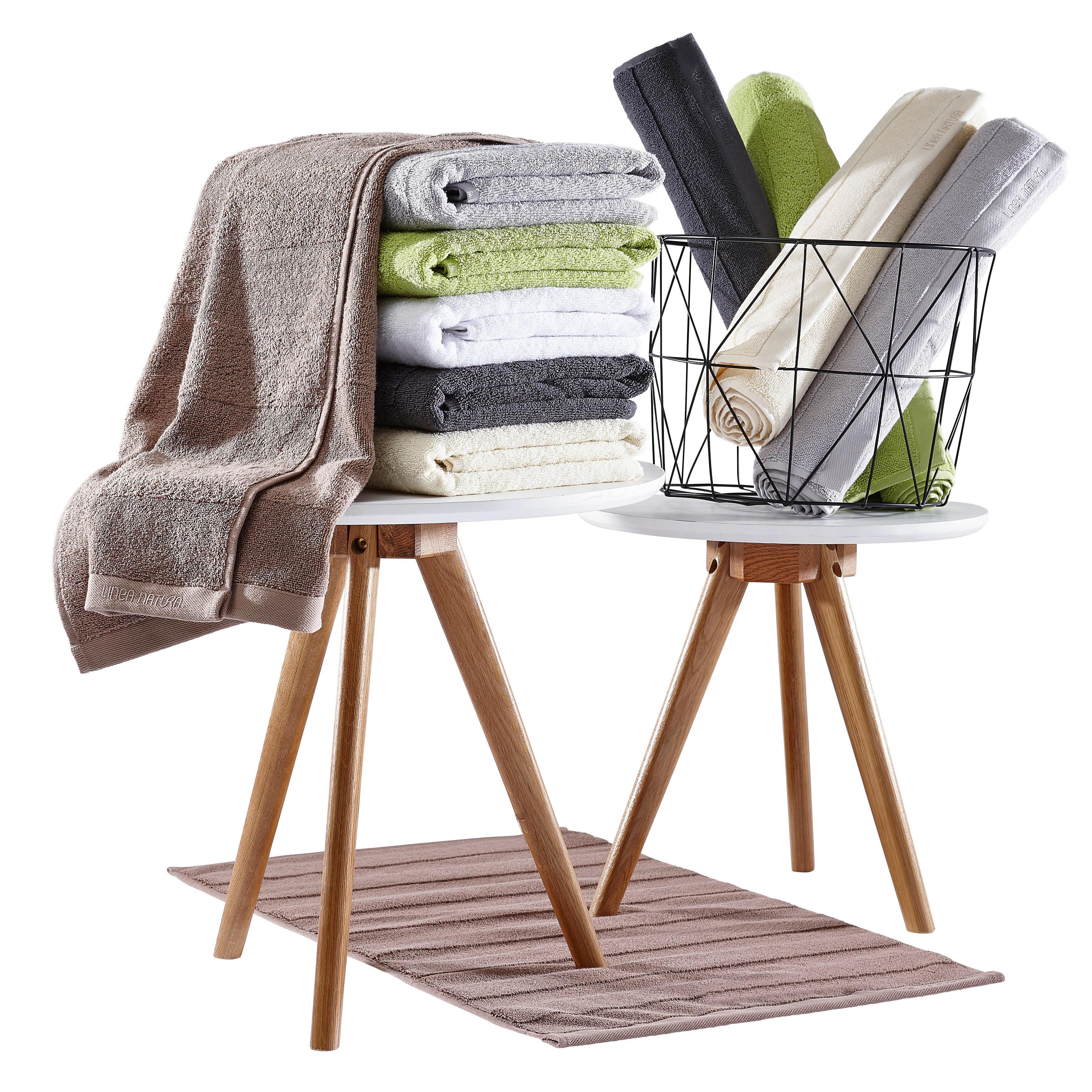 HANDTUCH 50/100 cm - Anthrazit, Basics, Textil (50/100cm) - LINEA NATURA