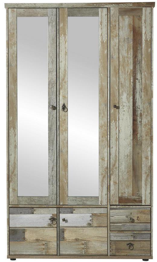 GARDEROBENSCHRANK foliert - Zinkfarben, KONVENTIONELL, Holzwerkstoff/Metall (109/188/40cm)