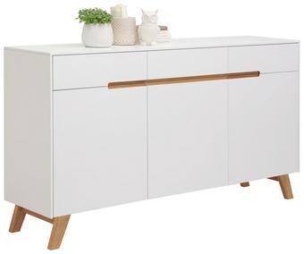 SIDEBOARD - vit/ekfärgad, Design, trä/träbaserade material (169/94/41cm) - Hom`in