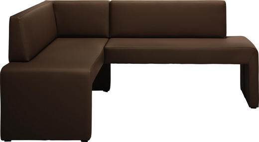 ECKBANK Lederlook Braun - Braun, KONVENTIONELL, Textil (150/190cm) - Carryhome