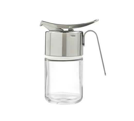 HONIGDOSE   - Klar/Edelstahlfarben, Design, Glas/Kunststoff (11/15cm) - WMF