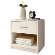 NACHTKÄSTCHEN Weiß  - Alufarben/Weiß, Design, Kunststoff (39/41/28cm) - Carryhome