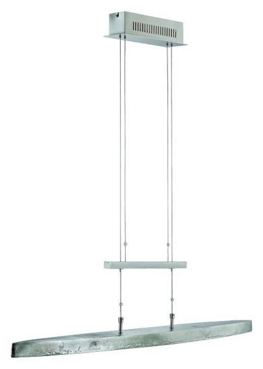 LED-HÄNGELEUCHTE - Nickelfarben, LIFESTYLE, Glas/Metall (106cm)