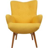 SESSEL in Textil Gelb, Naturfarben - Gelb/Naturfarben, Design, Holz/Textil (75/100/83cm) - Carryhome