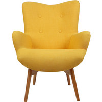 SESSEL - Gelb/Naturfarben, MODERN, Holz/Textil (75/100/83cm) - Carryhome