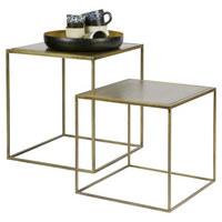 BEISTELLTISCHSET in Metall 40/40/45 cm - Messingfarben, Design, Metall (40/40/45cm) - Ambia Home
