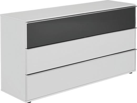 KOMMODE Grau, Weiß - Chromfarben/Schwarz, Design, Glas/Kunststoff (160/82/46cm) - Visionight