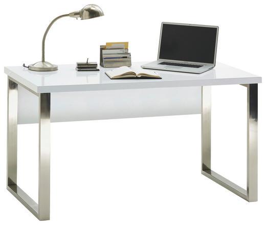 SCHREIBTISCH Weiß - Weiß, Design, Metall (140/76/70cm) - Carryhome