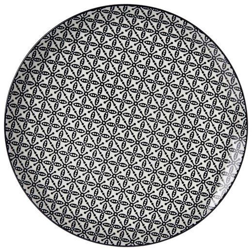 SPEISETELLER 26,5// cm - Schwarz/Weiß, Trend, Keramik (26,5//cm) - Ritzenhoff Breker