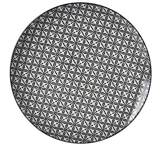 SPEISETELLER  - Schwarz/Weiß, Trend, Keramik (26,5cm) - Ritzenhoff Breker