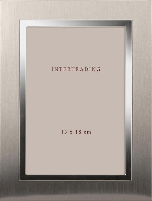 BILDERRAHMEN  Silberfarben - Silberfarben, Basics, Glas/Metall (18,5/23,5/2cm)