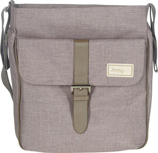 WICKELTASCHE - Creme/Braun, KONVENTIONELL, Textil (29/34/12cm) - Jimmylee