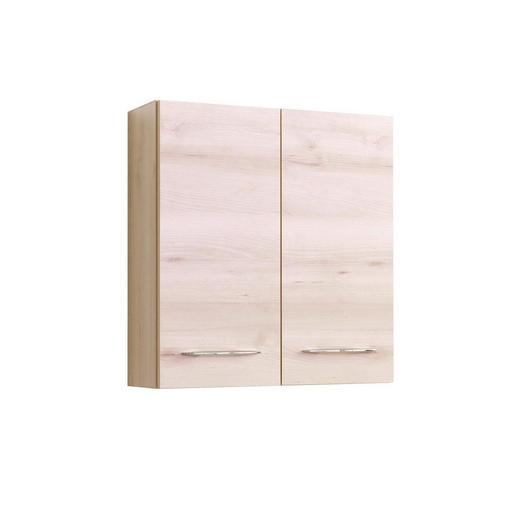 HÄNGESCHRANK Buchefarben - Chromfarben/Buchefarben, Design, Holzwerkstoff/Metall (60/64/20cm) - Carryhome