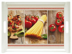 SERVERINGSBRICKA - röd/brun, Klassisk, plast (45,5/31cm) - Homeware