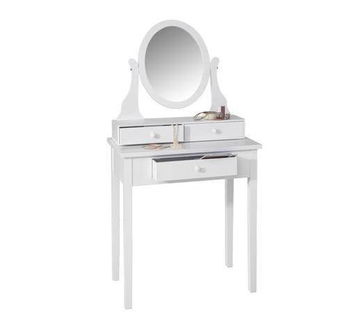 STOL ZA ŠMINKANJE bijela  - bijela, Lifestyle, staklo/drvni materijal (70/132/40cm) - Ambia Home