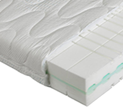 KALTSCHAUMMATRATZE POLAR 3D PURE 160/200 cm 22 cm - Weiß, Basics, Textil (160/200cm) - Dieter Knoll