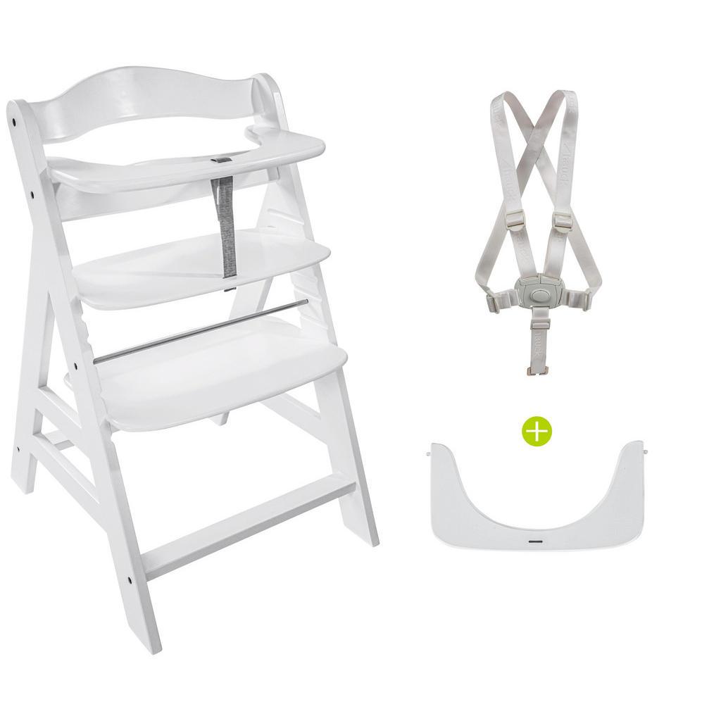 Kombinovaná Vysoká Židle Buk Bílá Hauck