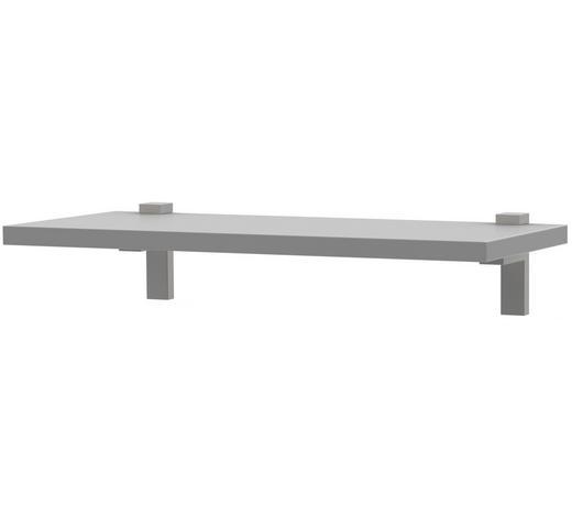 WANDBOARD in 60/2,2/25,5 cm Hellgrau - Hellgrau, Design, Holzwerkstoff (60/2,2/25,5cm)