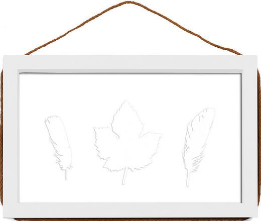 WECHSELRAHMEN  Weiß - Weiß, Basics, Glas/Holz (23/36/2cm)