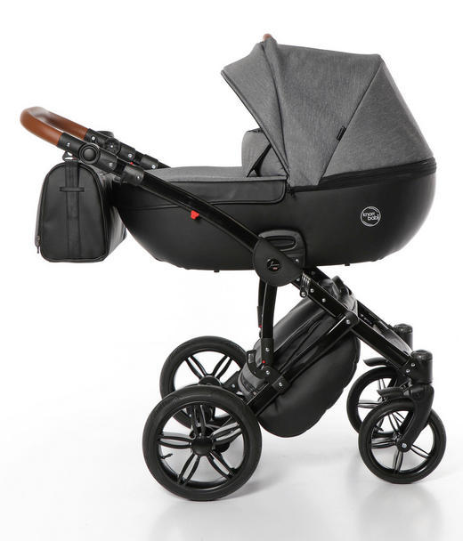 Ladena  Knorr-Baby Kinderwagenset - Schwarz, Basics, Textil/Metall (64/99/108cm)
