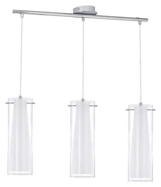HÄNGELEUCHTE - Chromfarben, KONVENTIONELL, Glas/Metall (72,5cm)