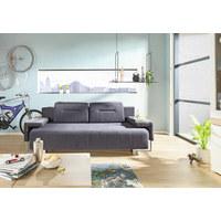 SCHLAFSOFA - Alufarben/Grau, Design, Kunststoff/Textil (222/84/93cm) - Carryhome