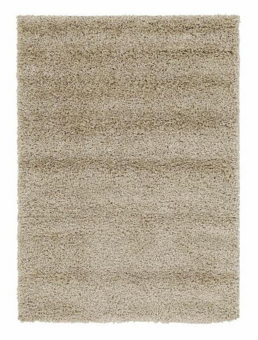 HOCHFLORTEPPICH  140/200 cm  gewebt  Beige - Beige, Textil (140/200cm) - NOVEL