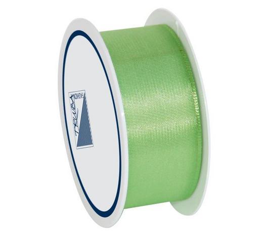 GESCHENKBAND - Hellgrün, Basics, Textil (2.5/1/7cm)