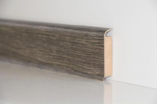 SOCKELLEISTE - Dunkelgrau/Braun, Basics (250/6/1,3cm) - Venda