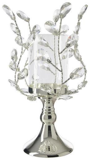 LJUSSTAKE - silver, Basics, metall/glas (20/35cm) - Ambia Home
