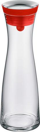 WASSERKARAFFE 1,0 L - Transparent/Rot, Basics, Glas/Kunststoff (1l) - WMF