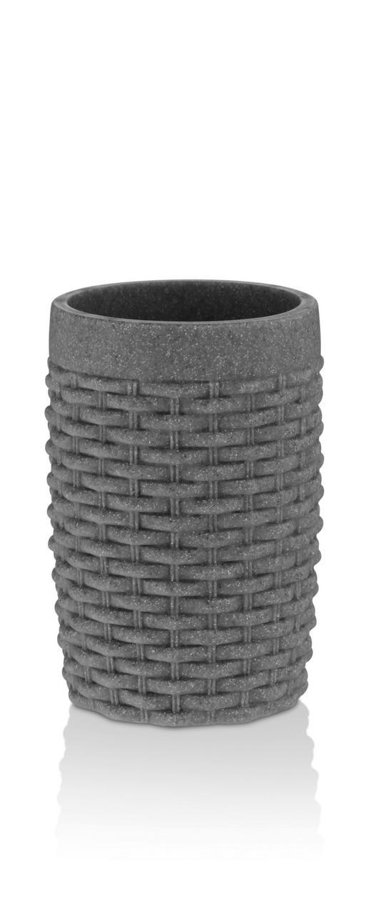 ZAHNPUTZBECHER - Grau, Kunststoff (7/10,5cm) - Kela