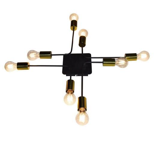 DECKENLEUCHTE - Goldfarben/Schwarz, Design, Metall (68/68/10cm) - Marama