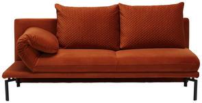 LIEGE in Textil Rostfarben  - Rostfarben/Schwarz, MODERN, Textil/Metall (200-233/90/88cm) - Dieter Knoll