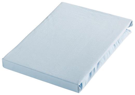 SPANNBETTTUCH Jersey Hellblau bügelfrei - Hellblau, Basics, Textil (100/200cm) - Novel