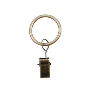 ring+klämma - bronsfärgad, Basics, metall (2,5/3,1cm)