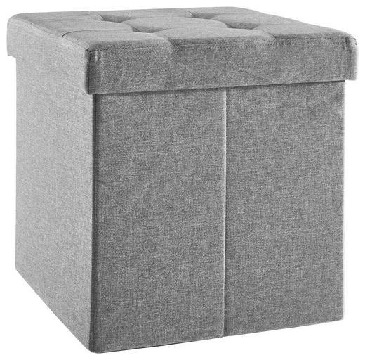 SITZBOX in Holzwerkstoff, Textil - Anthrazit, Basics, Holzwerkstoff/Textil (38/38/38cm) - Carryhome