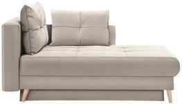 LIEGE in Textil Beige - Eichefarben/Beige, KONVENTIONELL, Holz/Textil (166/96/104cm) - Venda