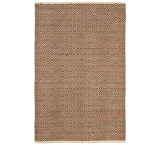 FLECKERLTEPPICH 60/90 cm - Braun/Naturfarben, KONVENTIONELL, Leder/Textil (60/90cm) - Boxxx