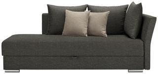 LIEGE in Textil Grau, Beige  - Chromfarben/Beige, Design, Kunststoff/Textil (220/93/100cm) - Xora